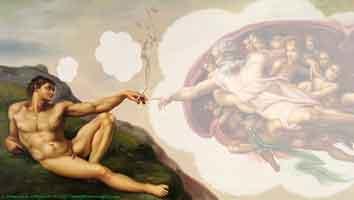 Εικαστικές Ανησυχίες: Η «γέννηση του Αδάμ» (αθεϊστική εκδοχή…)